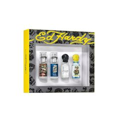 Ed Hardy Men's Cologne Collection Gift Set, Multicolor