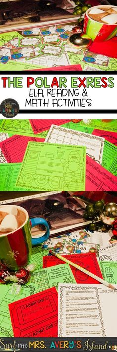 These Polar Express activities are guaranteed to keep your kids engaged as they countdown to Christmas.  This packet is full of NO PROP printables to stock your math and literacy centers or even use for morning work for the month of December.  Click the link and discover the ease of incorporating The Polar Express and these fun activities for your students into your reading and math lesson plans!
