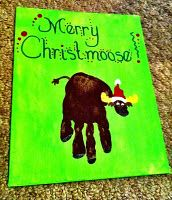 Christmas moose handprint