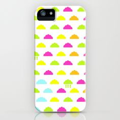 DIYNeon Clouds iPhone Case with scrapbook paper