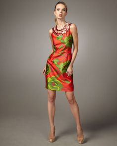 Kate spade new york caiti printed dress thestylecure.com