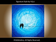 Valentine's Day Gift Abstract Landscape Painting  by QiQiGallery, $65.00