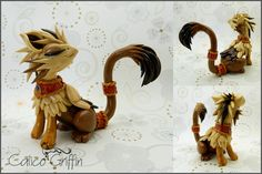 Rokka the royal griffin - polymer clay by CalicoGriffin.deviantart.com on @DeviantArt