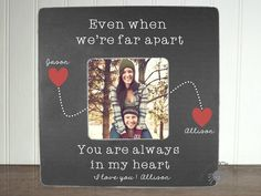 Personalized Boyfriend picture frame Long by itsybitsyframeshop