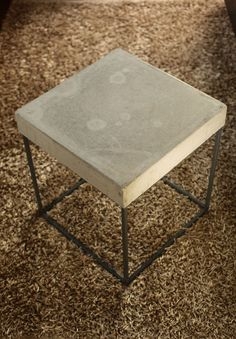 Parson's Concrete Side Table Pair of Tables by Sethcollinsstudios - probably to much stone out there already!
