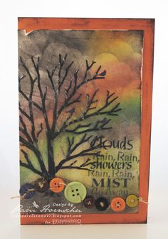 A Moody Mixed Media Post by Pam Hornschu featuring Dreamweaver stencils, pastes, and Metallic F/X.