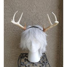 New Arrival Realistic Christmas Doe Deer Antlers Horns 3d Printed... ($40) ❤ liked on Polyvore featuring accessories, hair accessories, black, headbands & turbans, deer headband, plastic headbands, christmas hair accessories, headband hair accessories and christmas headbands