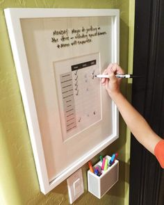 dry erase chore board | becky higgins