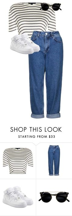 """""""././../..../.../."""" by anna-mae-equils on Polyvore featuring Alexander Wang, Topshop and NIKE"""