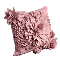 Bacall Pillow in Pink, this will add texture to any decor.