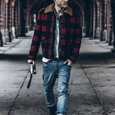 Fashion Mens Grid Splice Outerwear – joymanmall vests for men outdoor vests for men fashion vests for men winter vests for men classy Lumberjack Style, Lumberjack Outfit, Flannel Outfits, Men's Casual Outfits, Outfits Hombre, Herren Outfit, Fall Jackets, Cheap Jackets, Military Jackets