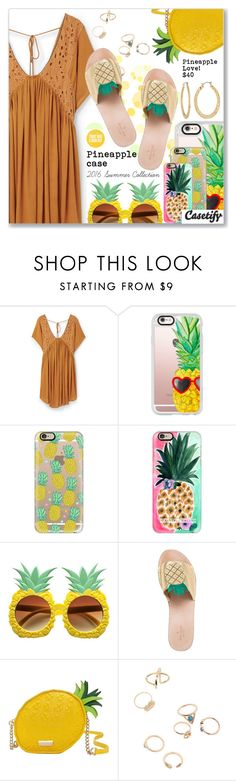 """""""Casetify.com"""" by dressedbyrose ❤ liked on Polyvore featuring MANGO, Casetify, Kate Spade and Fragments"""