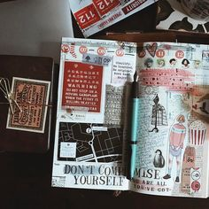 """""""Don't compromise yourself. Bullet Journal And Diary, Bullet Journal Font, Journal Design, Journal Layout, Midori Travelers Notebook, Bellet Journal, Travel Journal Pages, Therapy Journal, Art Journal Inspiration"""