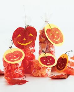 halloween treat bags, gift bags, press leaf, halloween cards, pumpkin