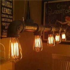 Dirk Industrial Straight Iron Pipe Pendant Light - Dark Brown