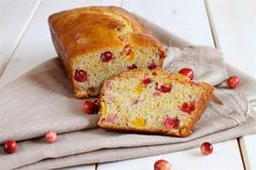 Cranberry-Orange Bread   ***Use oil/coconut oil instead of butter and maybe Greek yogurt in place of sour cream.  Yum!!!
