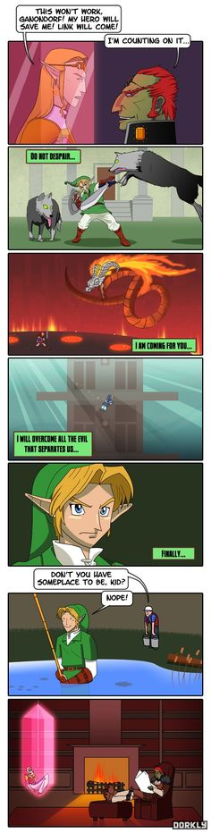Hahahaha I think Zelda's face is the funniest part of this comic, though the comic is quite hilarious.