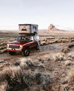 "upknorth: "" We don't get homesick, we get campsick. Ideal off-road, rooftop setup. Stunning shot by (at Shiprock, New Mexico) "" Get Outdoors, The Great Outdoors, Glam Dresses, Casual Street Style, Happy Campers, Adventure Is Out There, New Mexico, Offroad, Dream Cars"