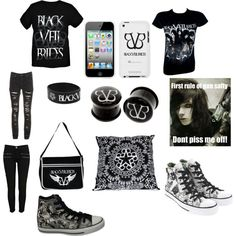 """""""black veil brides fan concert outfit"""" by the-fish-out-of-water1 on Polyvore"""