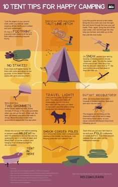 The Camping And Caravanning Site. Camping Tips And Advice Straight From The Experts. Camping can be a fun way to forget about your responsibilities. Your trip can be an unmitigated disaster, however, if proper plans are not made. Camping Guide, Camping Checklist, Camping Essentials, Camping Survival, Survival Prepping, Tent Camping, Survival Skills, Camping Hacks, Camping Gear