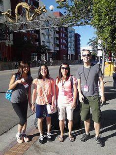 Pop-Up Newsroom reporters Taeko Morimura, Jennifer Yamada, Stephanie Henkel, and Chris Wilson at CicLavia Fall 2013