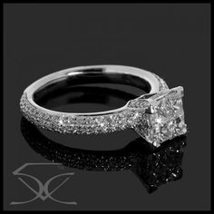 Diamond Princess Cut Ring. Gorgeous *looks almost exactly like my ring, my hunny did good!