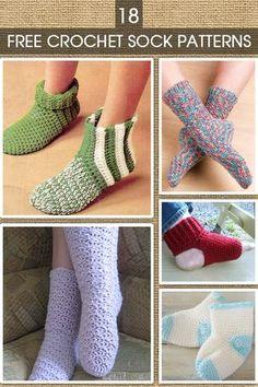 Crochet Sock Patterns Easy Crochet Socks, Crochet Sock Pattern Free, Crochet Slipper Pattern, Crochet Boots, Crochet Shirt, Crochet Slippers, Crochet Crafts, Crochet Yarn, Crochet Stitches