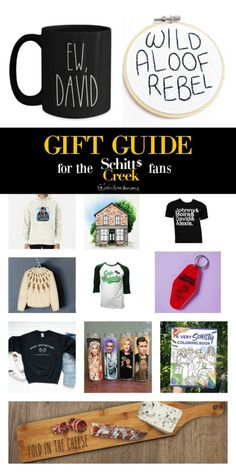 The Ultimate Schitts Creek Gift Guide - Simply Real Moms Saint Candles, Classic Christmas Songs, Rose Family, Schitts Creek, Funny Scenes, Diy Art Projects, Real Moms, Halloween Signs, Memorable Gifts