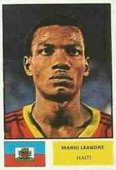 Mario Leandre of Haiti. 1974 World Cup Finals card.