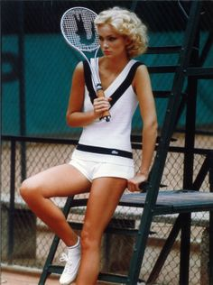 Vintage tennis Lacoste. My hair never looked that good while I was holding a racquet!