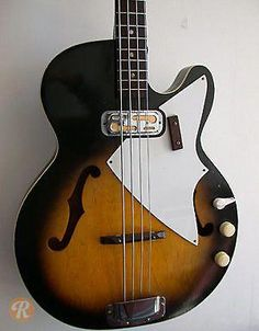 The was a popular hollowbody bass with flat back and front. Starting in a double cutaway version was produced as the of Guitar Tabs, Cool Guitar, Guitar Chords, Rickenbacker Bass, Guitar Strings, Musical Instruments, Acoustic, 3d Printing, Cool Stuff