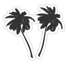 Palm Tree Black and White Silhouette Stickers Redbubble Laptop Stickers -- amariei on redbubble