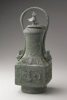 . Fangyou (ritual wine vessel) Artist Unknown (China, Asia), 13th-12th century BCE Bronze✖️More Pins Like This One At FOSTERGINGER @ Pinterest✖️