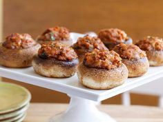 Stuffed Mushrooms (Hongos Rellenos de Chorizo) Daisy Martinez recipe, so you know they're good!
