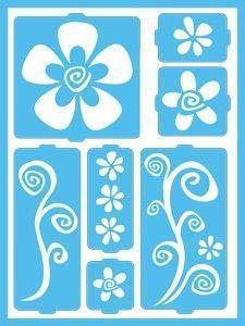 DecoArt: Patio Paint Home and Garden Stencils - fun stencils for decorating flower pots Clay Flower Pots, Painted Flower Pots, Bar Design, Design Studio, Succulent Garden Diy Indoor, Decoupage, Outdoor Acrylic Paint, Adhesive Stencils, Stencil Painting