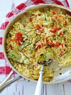 Orzo Pasta with Arti