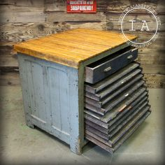 Antique 11 Drawer Hamilton Flat File Printers Cabinet by IndustrialArtifact on Etsy https://www.etsy.com/listing/195972494/antique-11-drawer-hamilton-flat-file