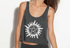 Supernatural Crop Tank - Fits Many Sizes - Simple Minimal Design Gift - Flowy Women Hipster Girls Teen Shirt