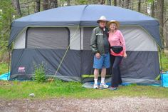 Grandparents who love the great outdoors may want to take their grandchildren camping. Tent camping has always been affordable. Now it's easy as well.
