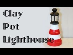 Give Your Garden A DIY Glow With Clay Pot Lighthouses