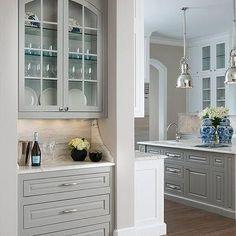 Gray Living Room Bar Nook
