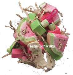 Watermelon Picnic Basket Bird or Parrot Toy from Things for Wings