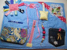Hummingbird on Blue Fidget, Sensory, Activity Quilt Blanket by TotallySewn on Etsy