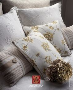 ALHAMBRA Annise Bed Pillows, Pillow Cases, Living Room, Design, Fabrics, Textiles, Products, Pillows, Throw Pillows