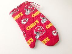 Go KC Chiefs Quilted Oven Mitt Kansas City Chiefs by 2Fun4Words