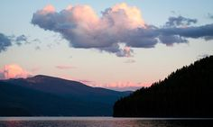 Sunset on the Priest Lake Clouds Photograph