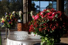"The Flower Growers Ball is one of the highlights of the year in the NSW Flower Industry calendar. In 2012 Sovereign Flowers ""Hypericum Coco Series"" proudly sponsored this event. Pictured is one of the table arrangement featured on the night, photograph is by Louise Baker and provided by the Flower Growers Group of NSW."