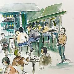 Meine Zeichnungen in Wien #urbansketching Times New Roman, Animation, Urban Sketching, Blur, Painting, Art, Sketches Of People, Drawing S, Art Background