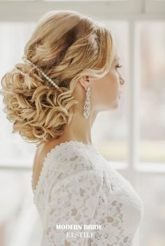 Featured: Elstile; Gorgeous updo wedding hairstyle idea;