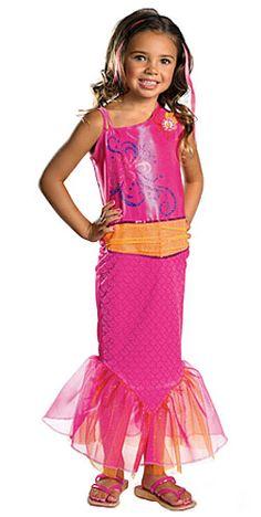 Barbie Merliah Mermaid Costume - Child Mermaid Halloween Costumes - Party Supplies